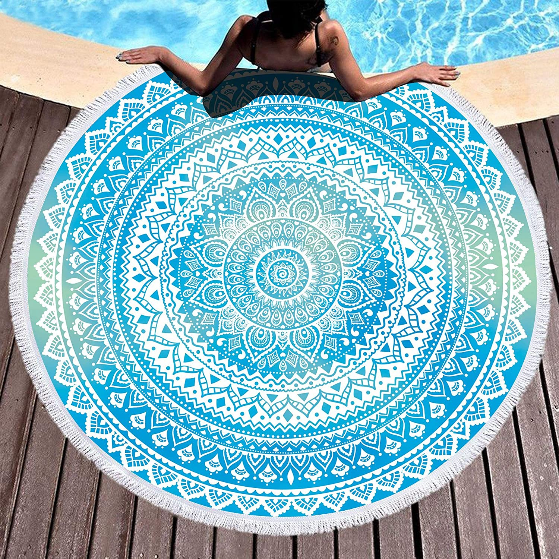 Mandala Microfiber Beach Towel Yoga Camping Outdoor TJXYTE13 30x60in Bohemian Pattern for Women Swimming