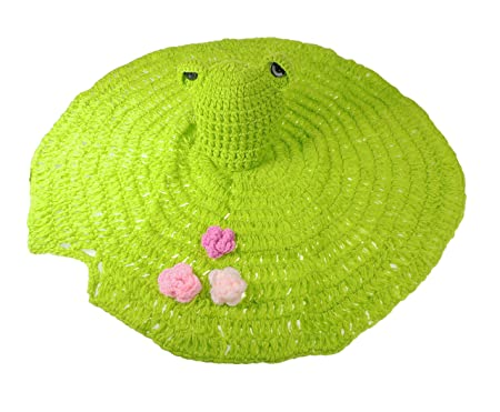 Adorable Hand Crochet Baby Girls Boys Colourful Photography Prop Hat And  Pants Various Sizes To Available In 6 Different Designs (Frog Hat   Lily  Pad)  ... 923497dda55d
