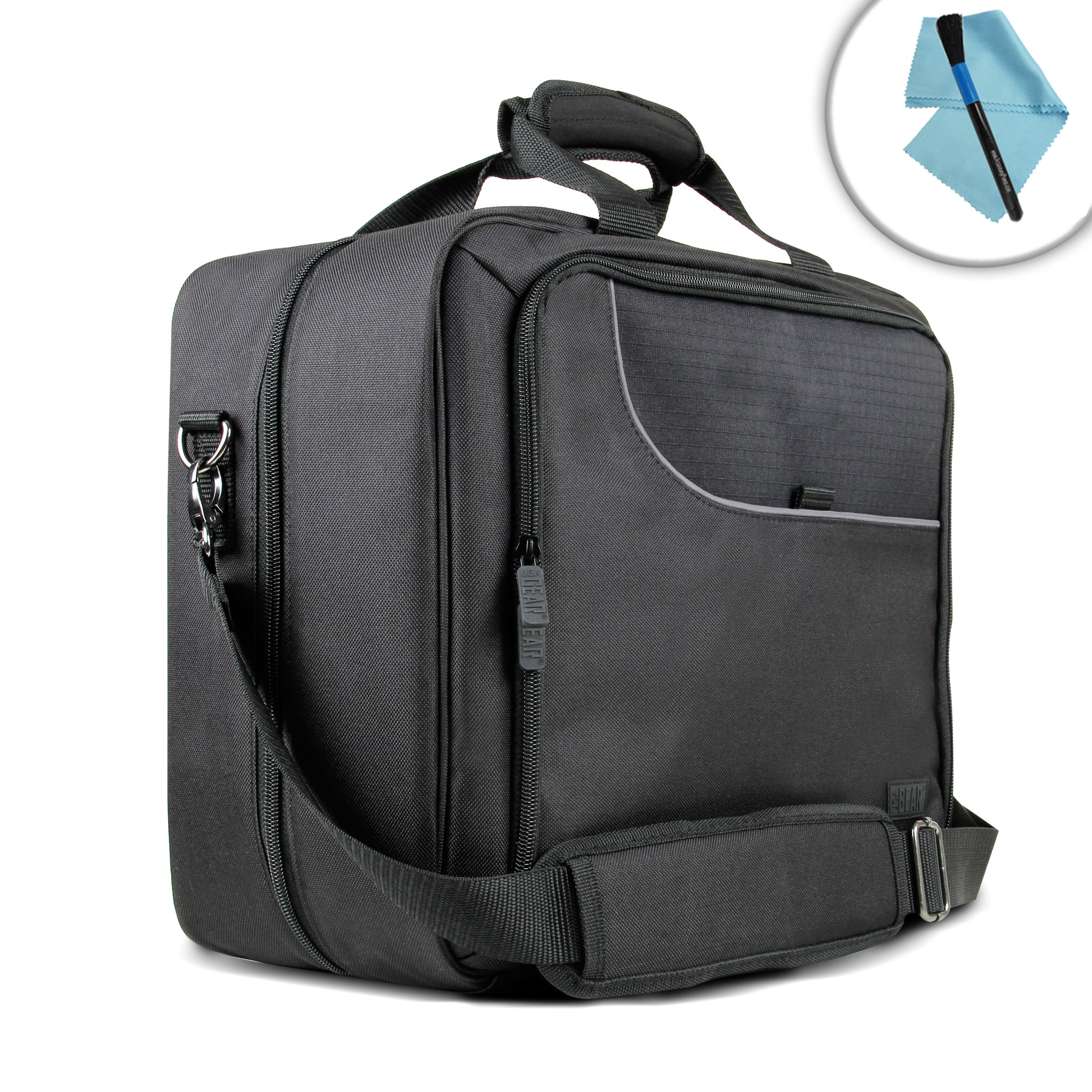 USA Gear Mobile Printer Case for Epson WorkForce WF-100 and Accessories with Carrying Strap , Padded Scratch-Resistant Lining - Storage for Paper , Power Adapter , Ink Cartridges