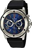 Bulova Men's 44mm Marine Star Black Strap Chronograph Watch