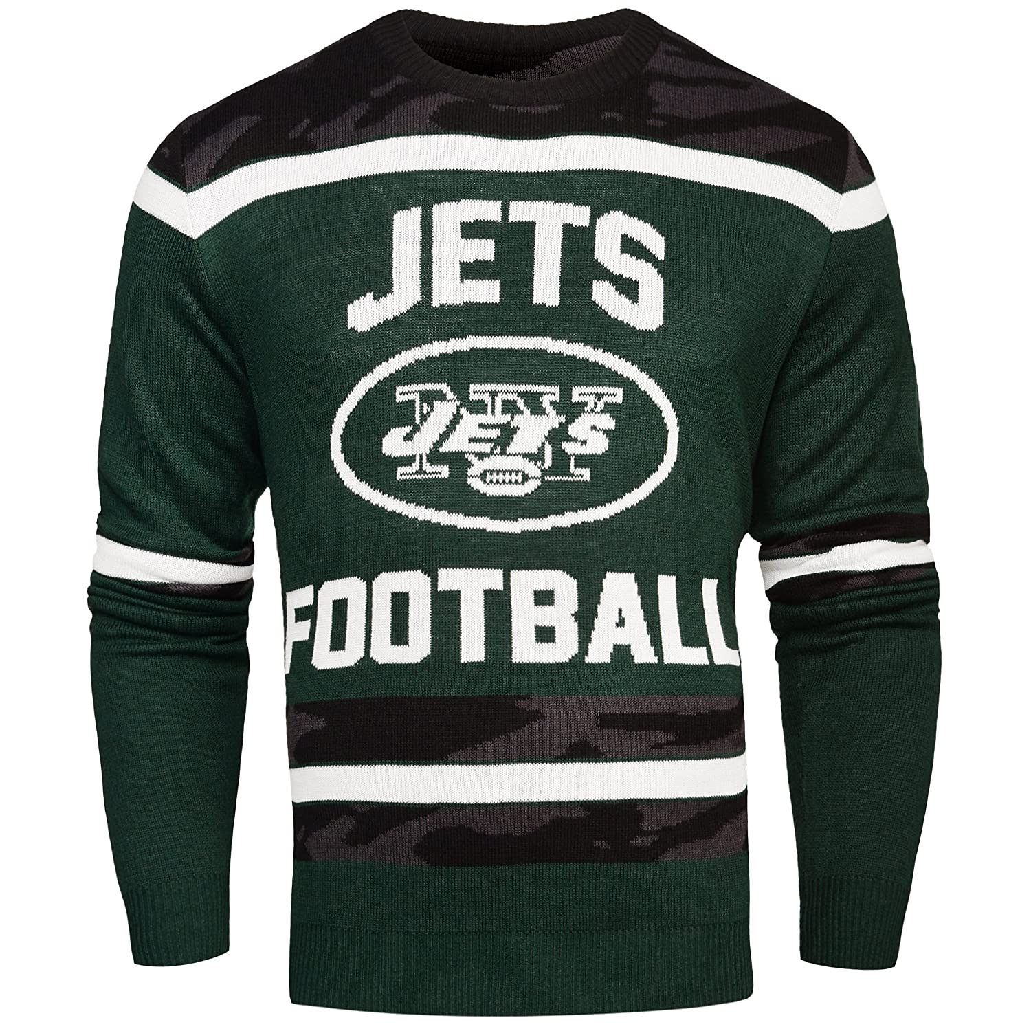 Mens Mens Large New York Jets Ugly Glow In The Dark Sweater