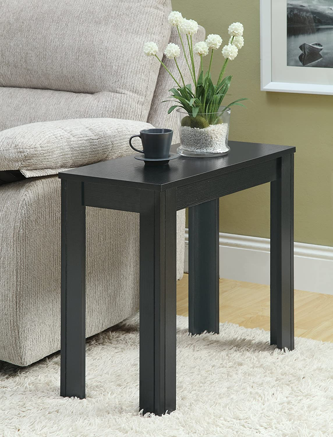 Amazon.com: Monarch Specialties Black Oak Accent Side Table: Kitchen U0026  Dining
