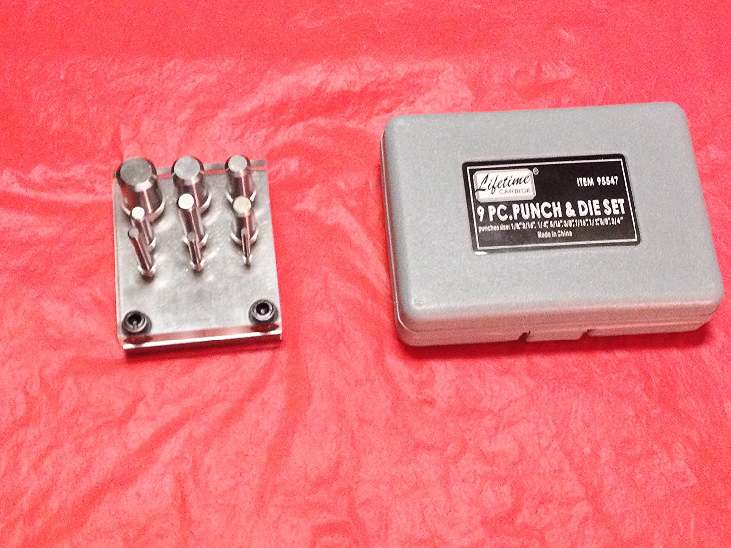 New 9 Piece Punch And Die Set