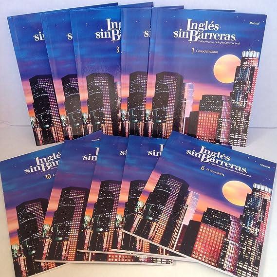 Amazon.com: INGLES SIN BARRERA 10DVD Ejercicio Interactivo 10CD Audio 10Manuales de Instruccion 10 Cuadernos de Ejercicios 1 Diccionario ...