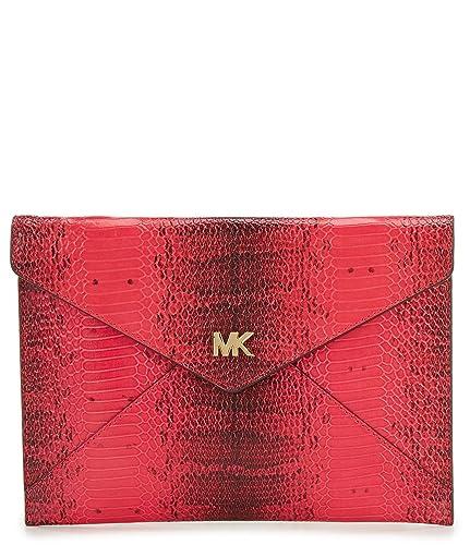 37ac58b33619 MICHAEL Michael Kors Barbara Medium Soft Envelope Clutch, Ultra Pink:  Handbags: Amazon.com