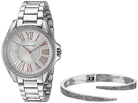 a3eb5ce6a571 Michael Kors Women s Kacie Silver-Tone Watch and Bracelet Gift Set MK3567