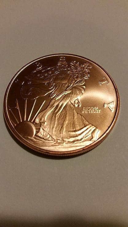 Walking Liberty 1oz Pure Copper Bullion Round!!