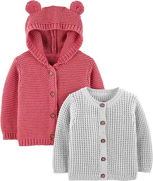 confezione da 2 Simple Joys by Carters Baby Cardigan lavorato a maglia