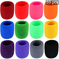 30 Pack Thick Handheld Stage Microphone Windscreen Foam Cover Karaoke DJ (12 Color)