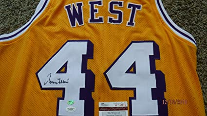 754ab0bbc Image Unavailable. Image not available for. Color  JERRY WEST Signed Autographed  Lakers Jersey ...