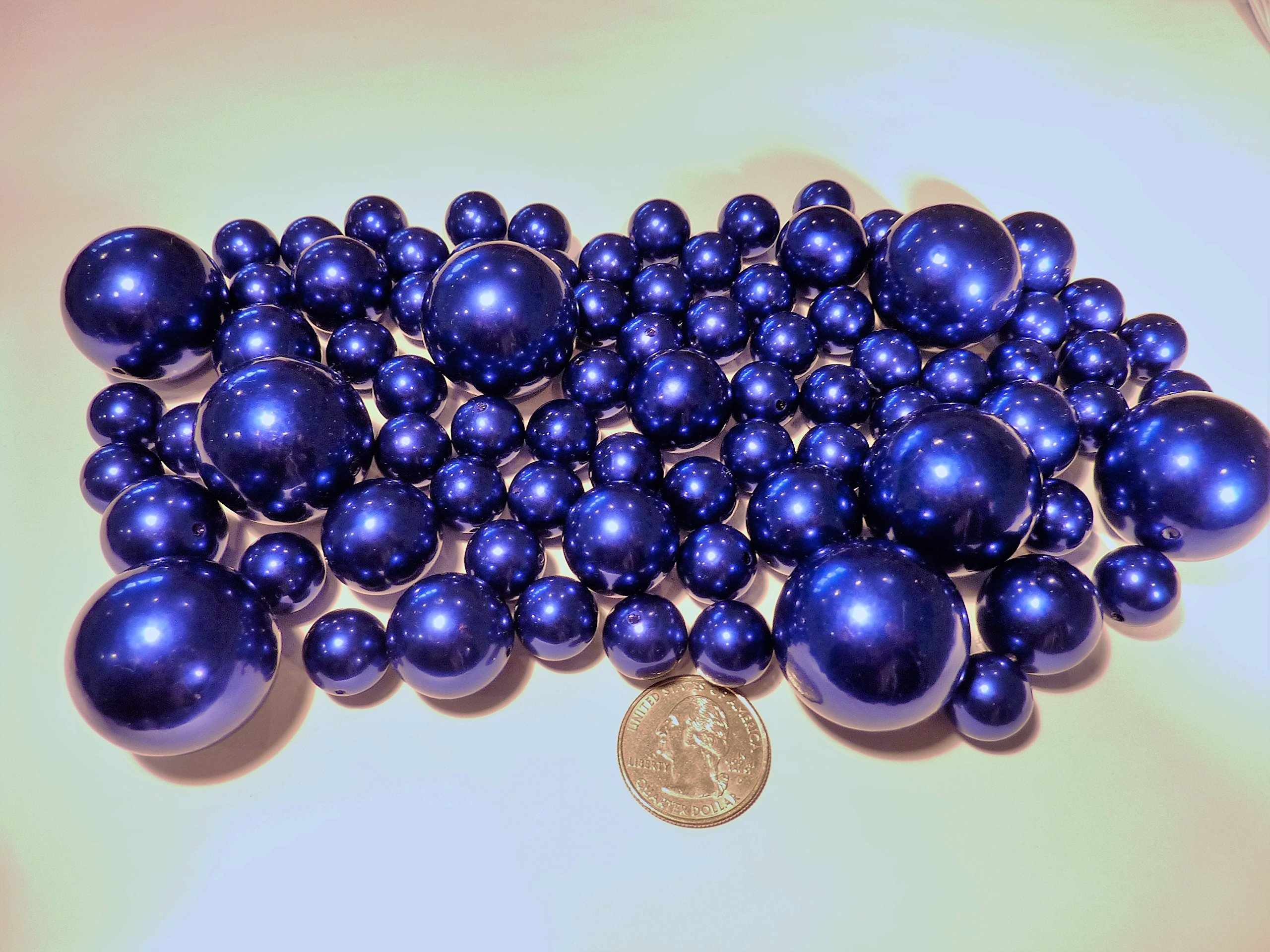 Amazon vase filler pearls for floating pearl centerpiece 50 80 jumbo assorted sizes all royal blue pearlsnavy pearlscobalt blue pearls reviewsmspy