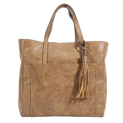 Amazon.com: Bolsas de cuero sintético con borla de cuero ...