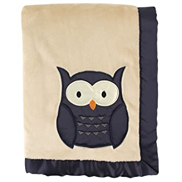 Image Unavailable. Image not available for. Color  Plush Blanket with Satin  Applique   Binding ... 5f9864345