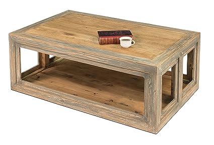 Amazon.com: sarreid 30745 ledford mesa de centro: Kitchen ...