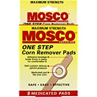 Mosco One Step Corn Remover Pads, Maximum Strength, 8 medicated pads (Pack of 12)