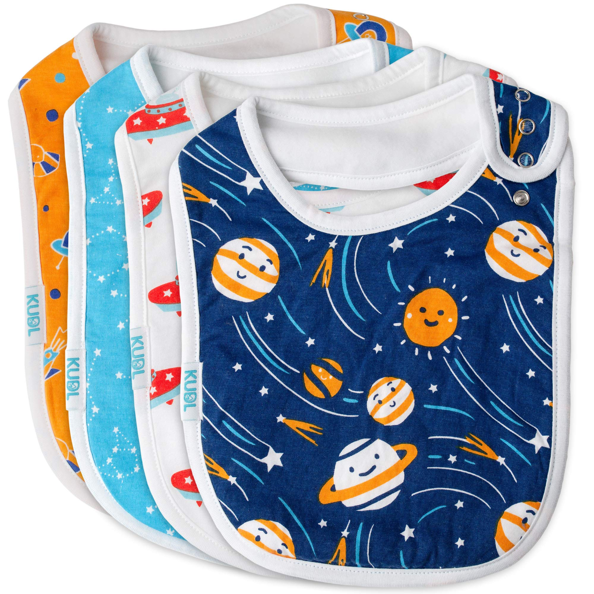 Fruit Prints, 0 to 6 Months Baby Lounge Infant Babies Bib 10-Pack Easy to Clean Soft Drool Absorbing