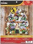 Bucilla Kit de Adorno en Fieltro para Colgar en la Pared, 45,7 cm x 45,7 cm, 86560casa encantada