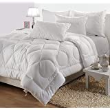 Spread Spain Extreme Winter Star Double Bed Quilt (White, 90x108-inch) 355 GSM Oeko Certified
