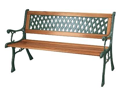 Gartenbank Gusseisen.Gartenbank 3 Sitzer Mit Hartholz Latten Und Beinen Aus Gusseisen