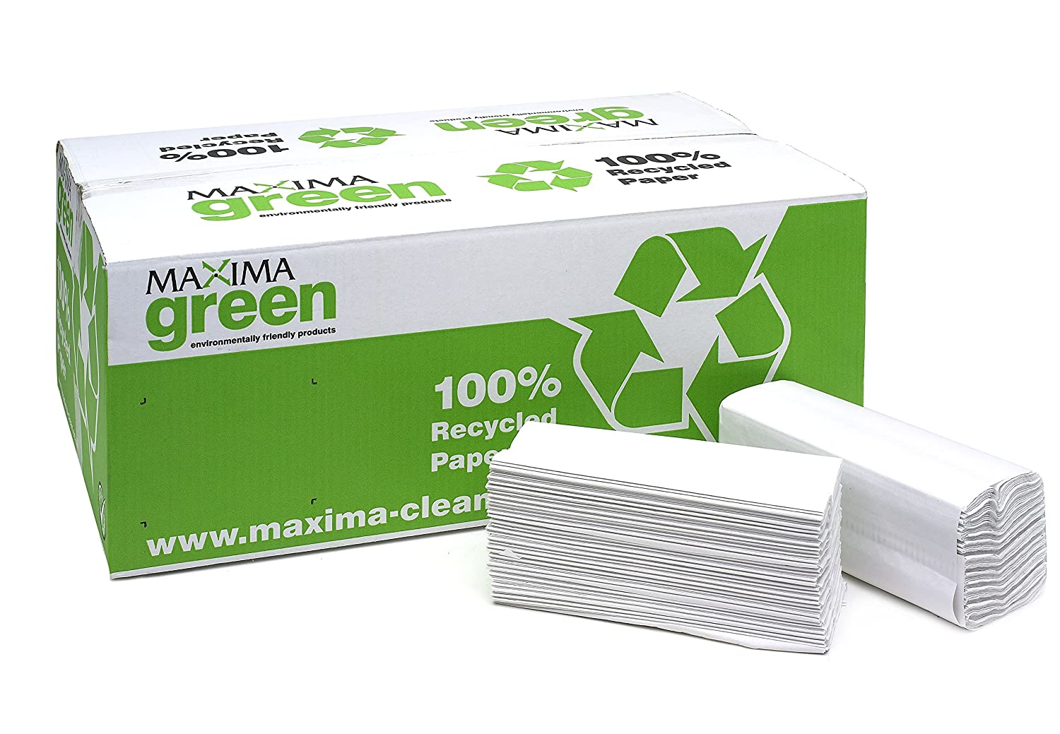 Maxgreen C-Fold Hand 2-Ply Towels Green 78292CP