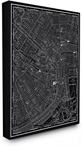 Stupell Home Décor New Orleans 1985 Vintage Map Oversized Stretched Canvas Wall Art, 24 x 1.5 x 30, Proudly Made in USA