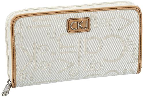 Calvin Klein Jeans Denim Jaquard - Monedero de lona mujer ...