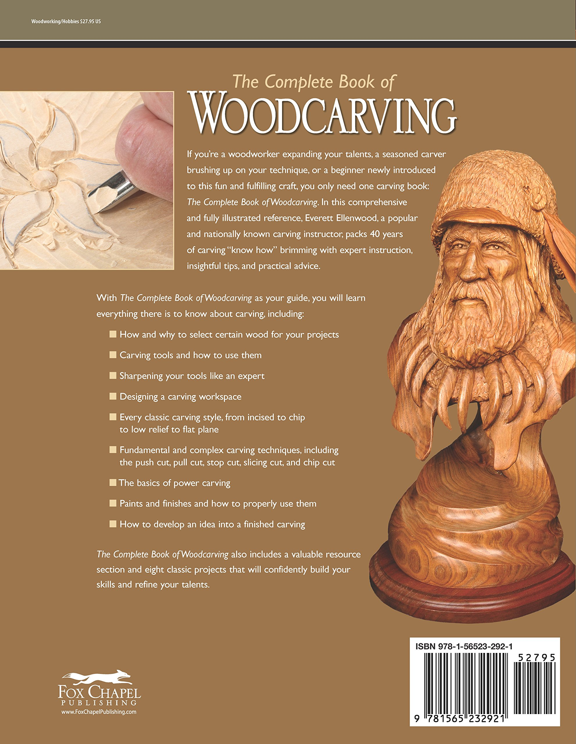 The complete book of woodcarving everything you need to know to