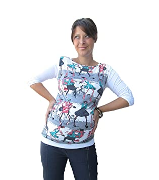 d7ac8a72cab Maternity Tshirt with Black White Cotton Back