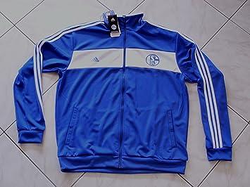 S04 FC Schalke 04 Adidas Herren Trainingsjacke Gr. 2XL