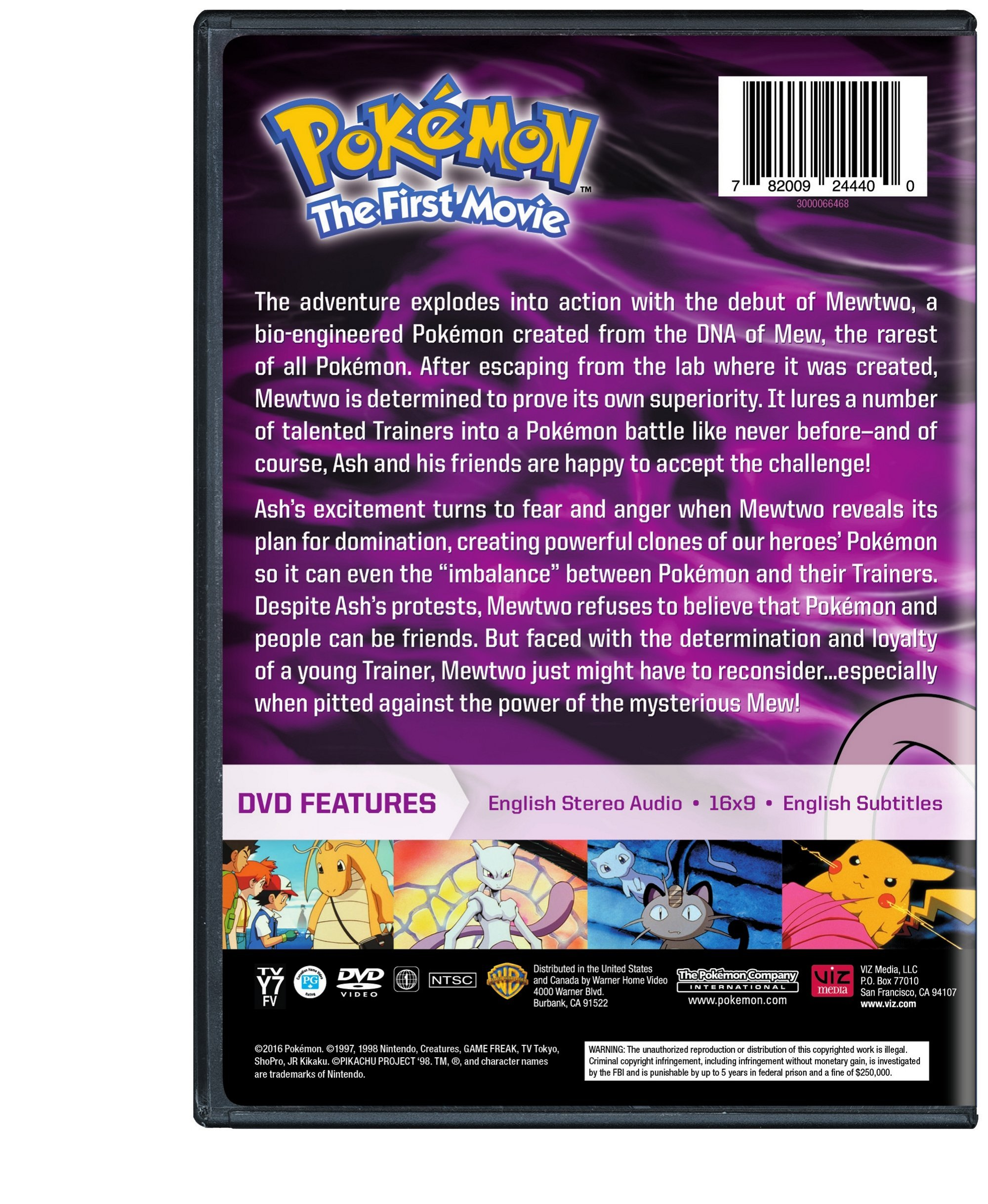 Pokemon the First Movie: Mewtwo Strikes Back by Warner Manufacturing
