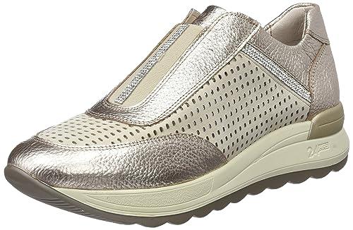 24 HORAS 23585, Zapatillas sin Cordones para Mujer, Dorado (Champan 3), 37 EU: Amazon.es: Zapatos y complementos