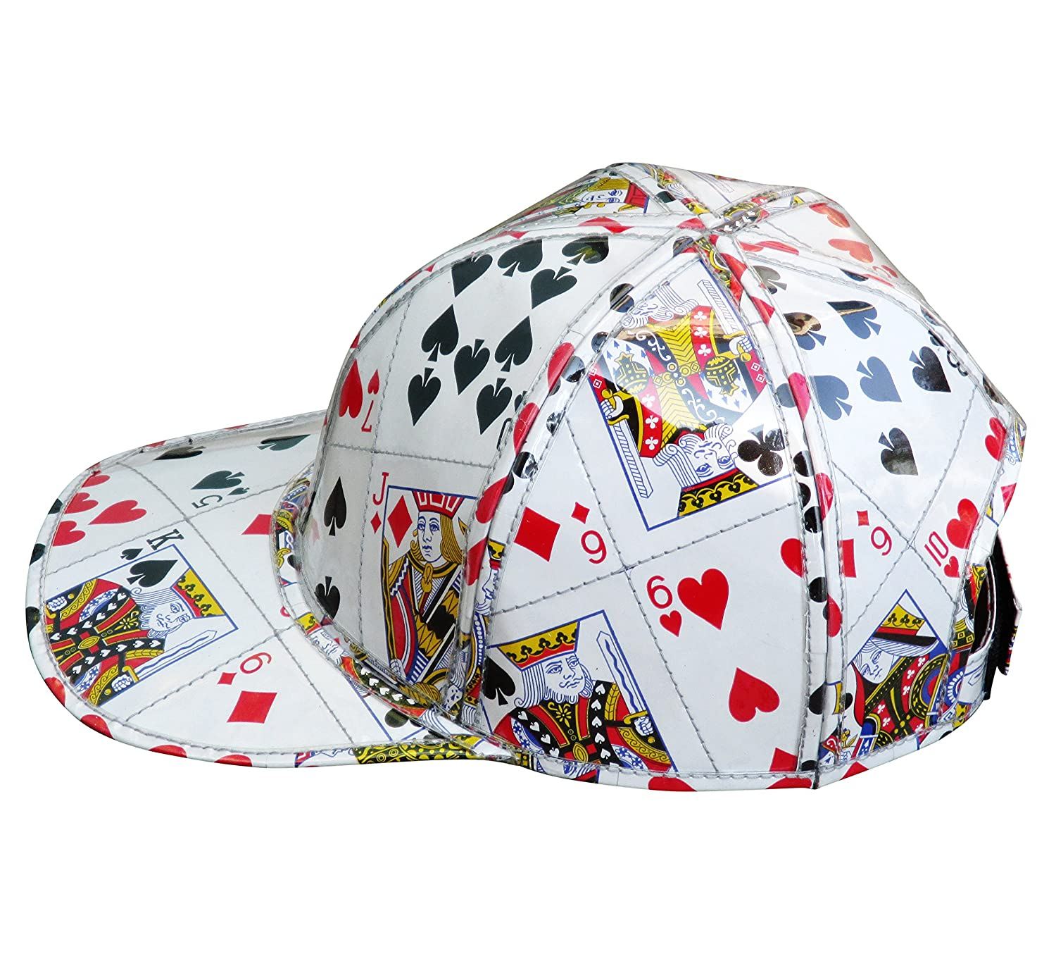 Cap hat made from playing cards - FREE SHIPPING, las vegas casino poker bridge player play card upcycled upcycle up-cycled recycled different smart person vegetarians products magician magicians