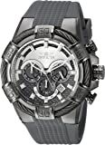 Invicta Men's 'Bolt' Quartz Stainless Steel and Silicone Casual Watch, Color:Grey (Model: 24701)
