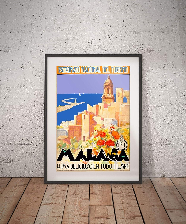 malaga malaga travel poster malaga poster malaga print malaga travel travel poster wall decor