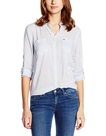 ac8900044a Hilfiger Denim Original lightweight shirt l/s, Camisa para mujeres Regular  Fit
