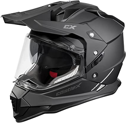 Castle Mode Dual-Sport SV Motorcycle Helmet (2XL, Matte Black)