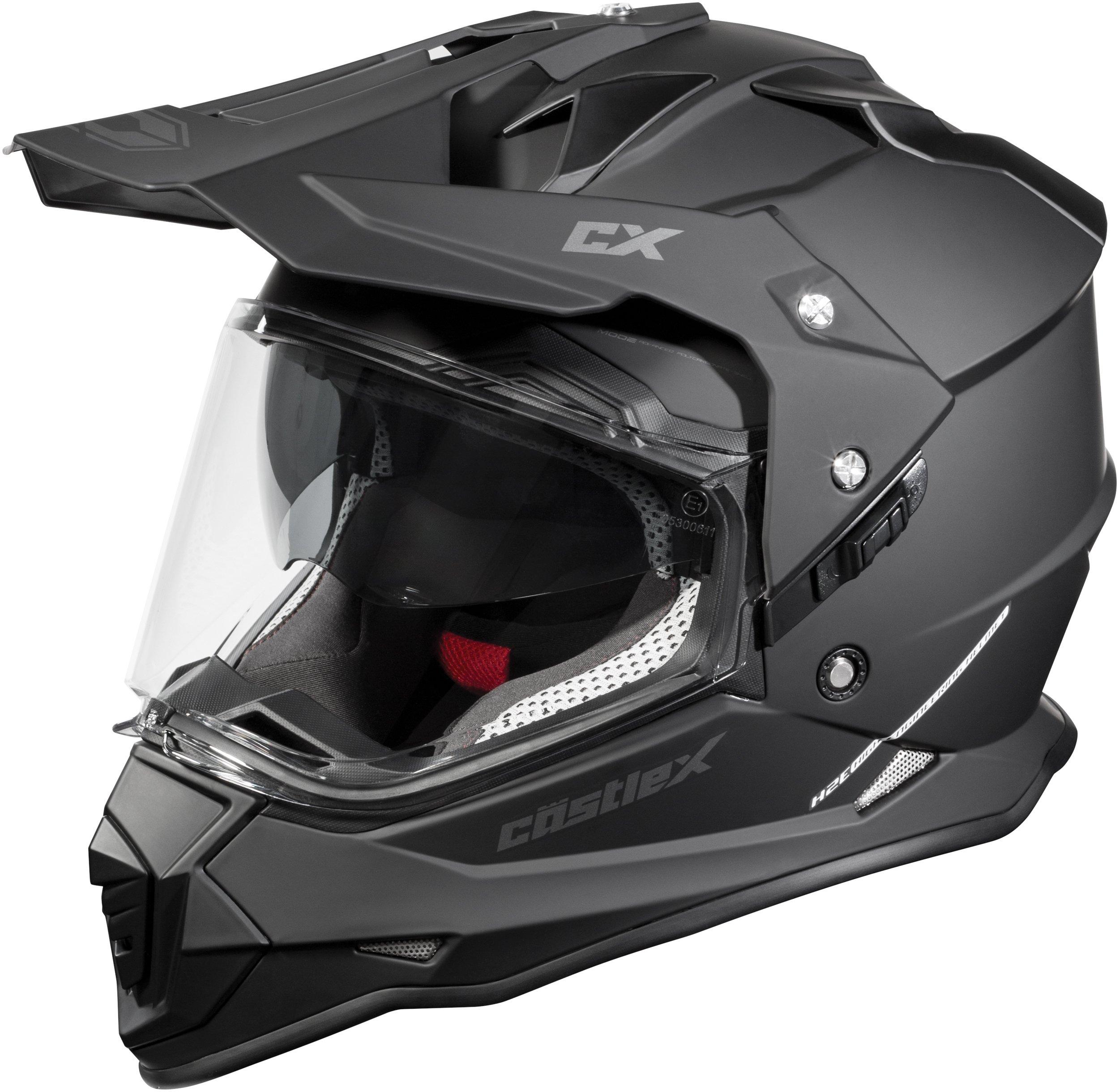 Castle Mode Dual-Sport SV Motorcycle Helmet (3XL, Matte Black) by Castle (Image #1)