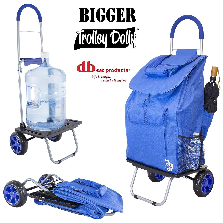 blau Shopping Lebensmittels faltbar Warenkorb Gr/ö/ßer Trolley Dolly