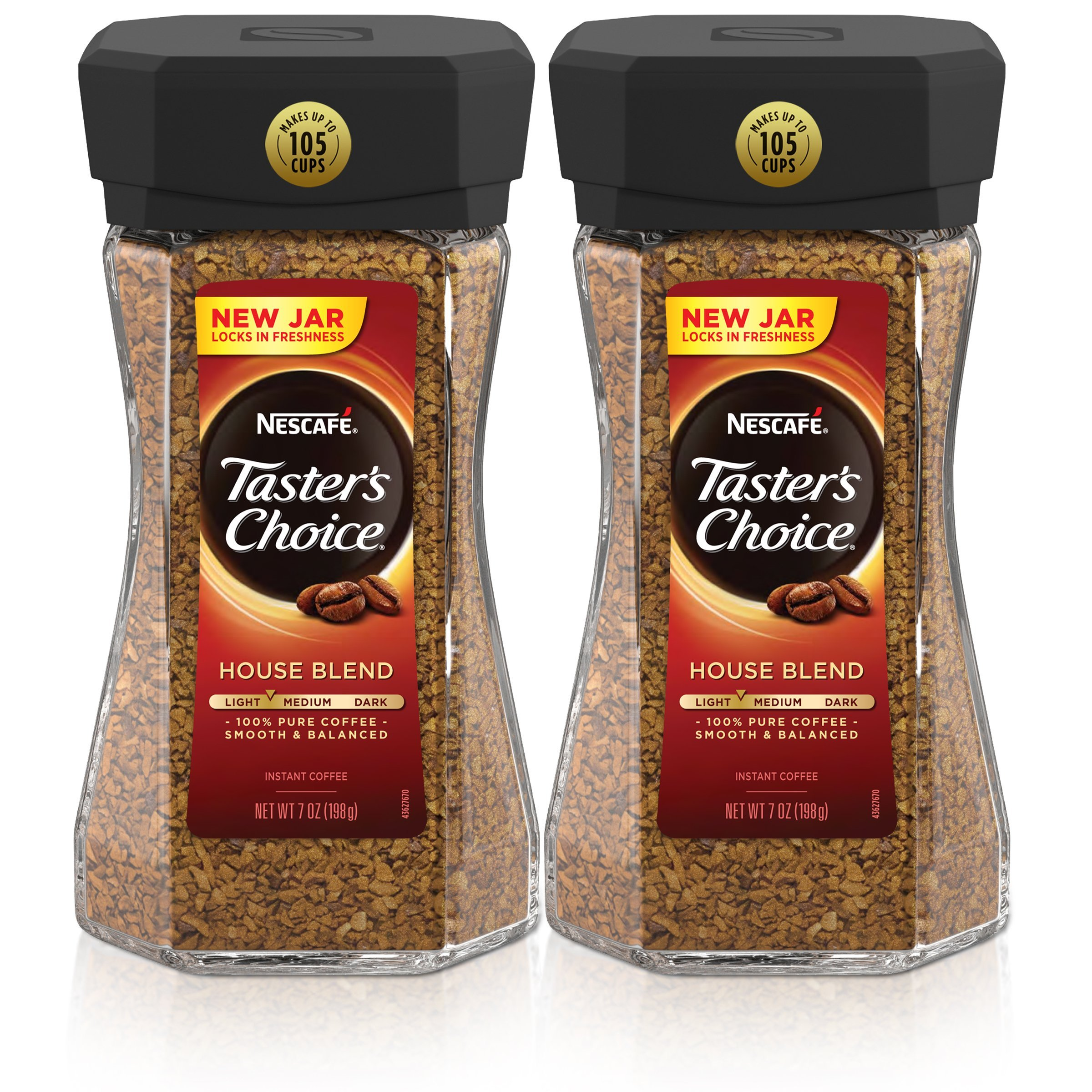 Nescafe Taster's Choice House Blend Instant Coffee, 7 Ounce (Pack of 2) by Nescafé