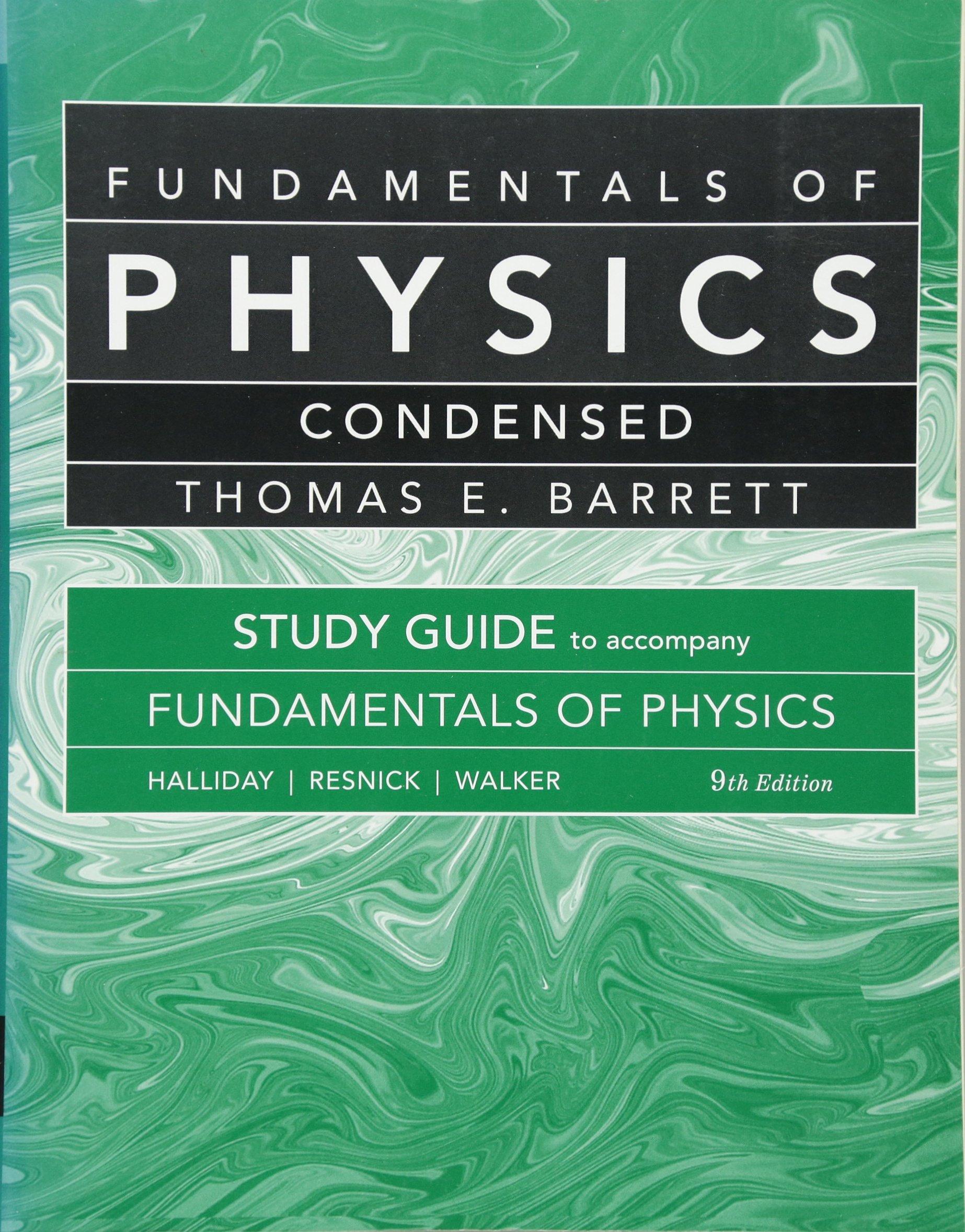 Student Study Guide for Fundamentals of Physics: David Halliday, Robert  Resnick, Jearl Walker, J. Richard Christman: 9780470551820: Books -  Amazon.ca