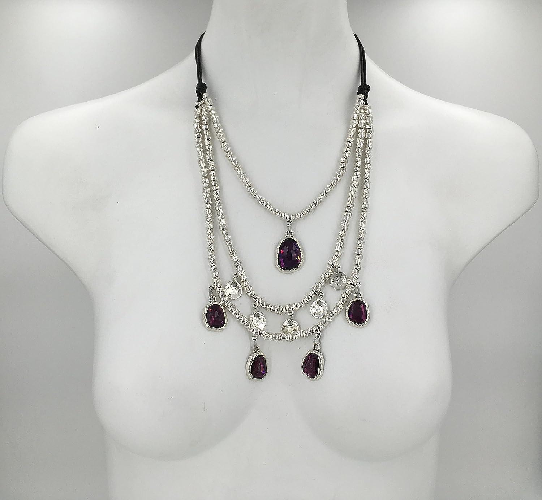 vintage necklace boho necklace woman necklace silver necklace collar zamak Collar mujer uno de 50 style