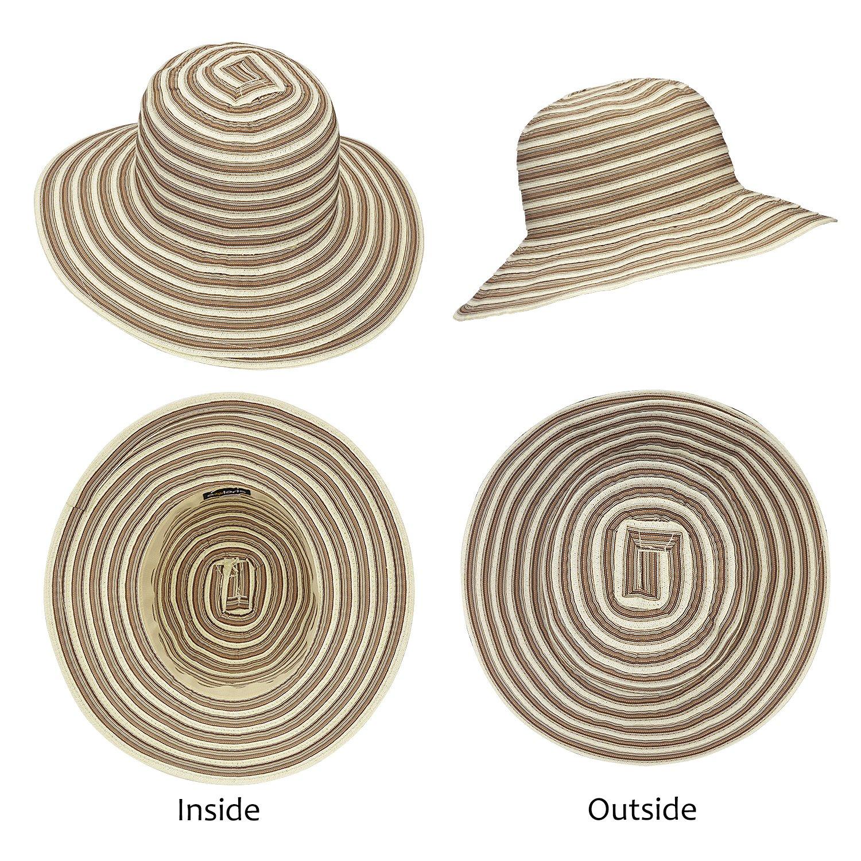 Women Floppy Summer Hat Sun Beach Straw Cap Foldable Wide Brim Gardening Hiking Hat