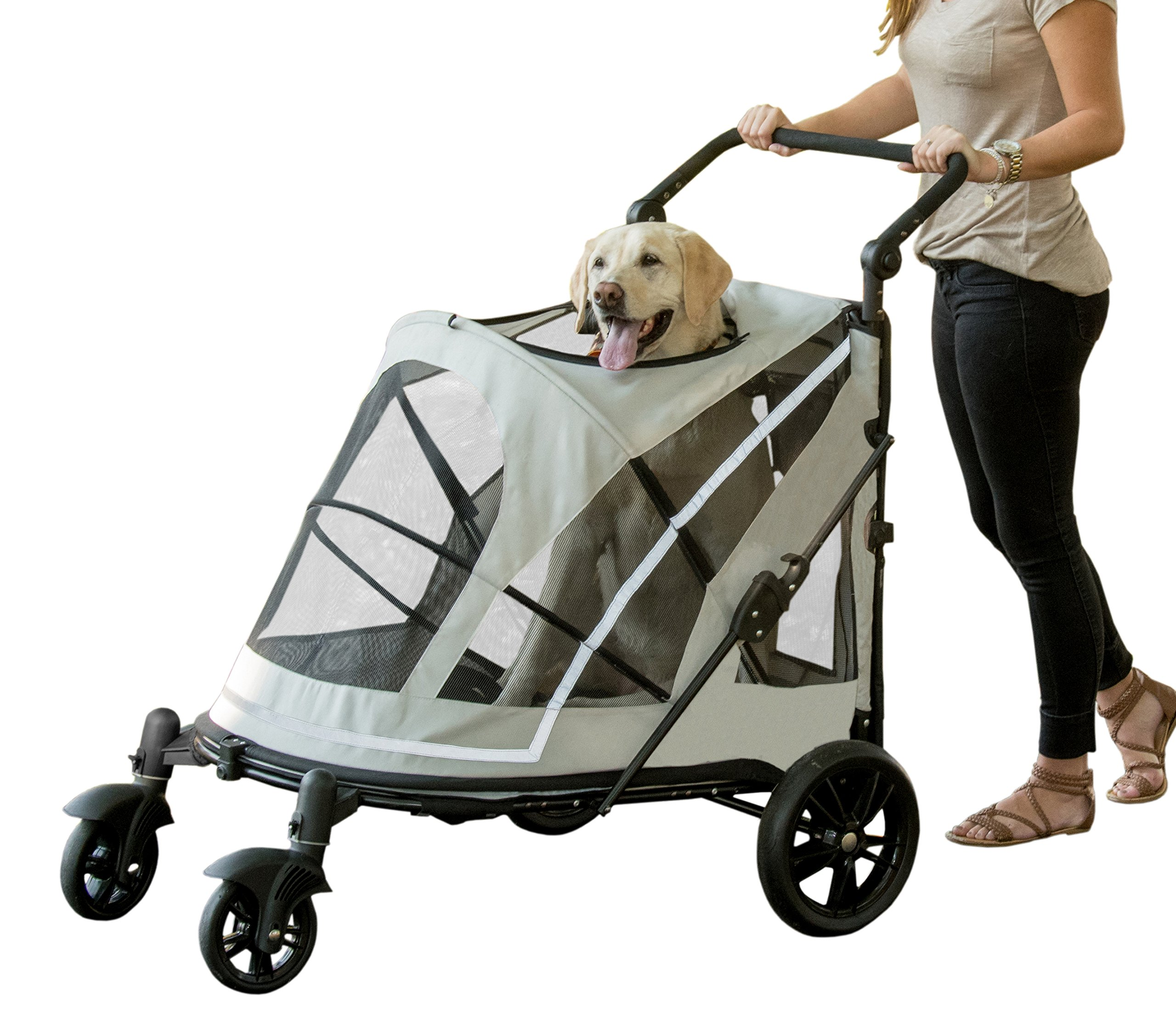 Pet Gear No-Zip Expedition, with push Button Entry for Single or Multiple Pets, Fog