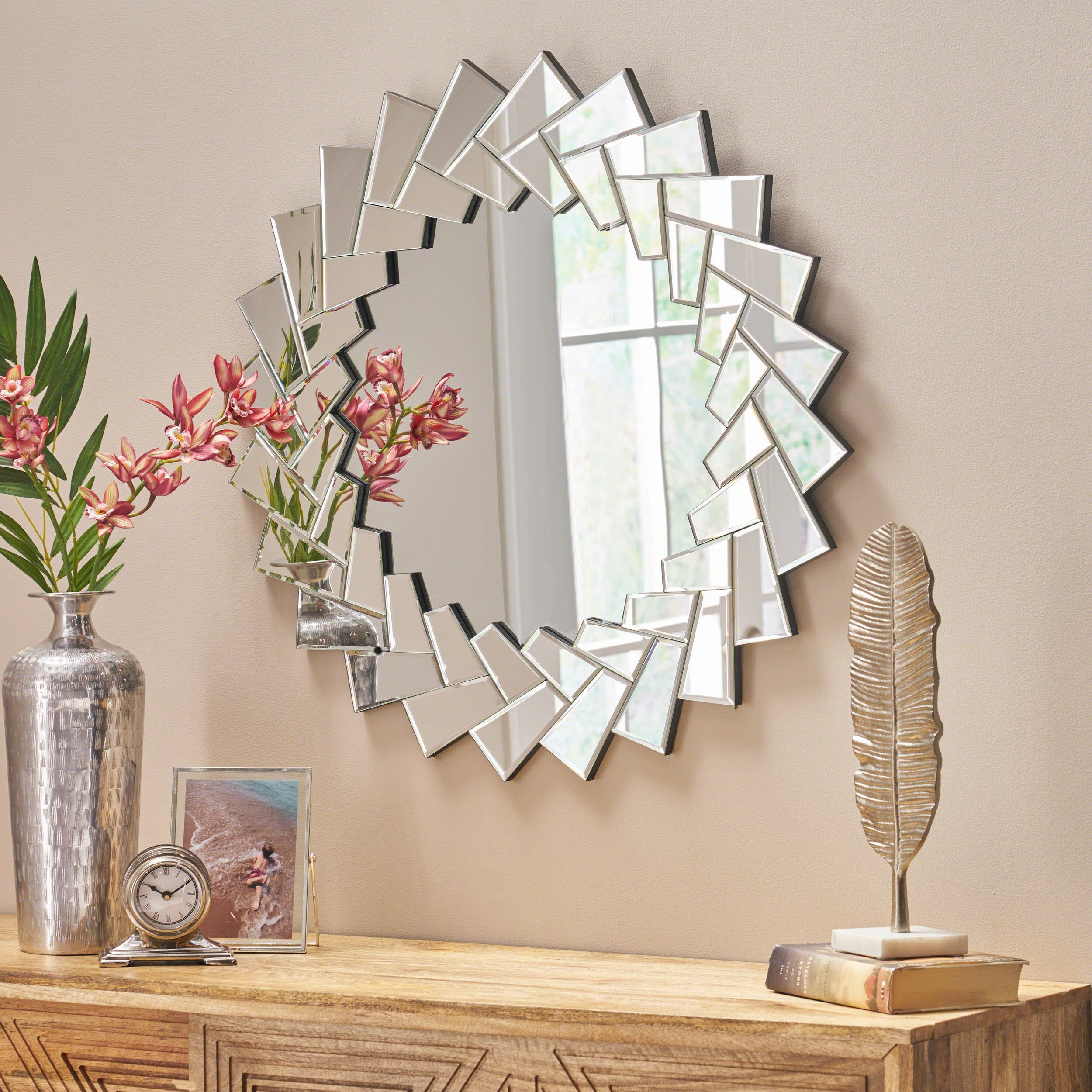 Christopher Knight Home 304281 Antares Mirror, Clear