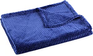 "DII Home 50 by 60"" Essentials Ultra Plush Travel Stadium Blanket, Medium, Navy"