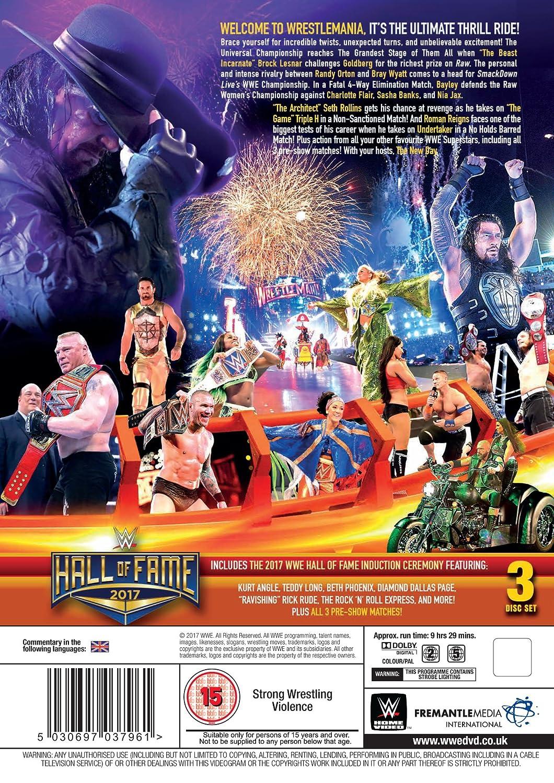 WWE: WrestleMania 33 [DVD] [Reino Unido]: Amazon.es: AJ Styles, Goldberg, John Cena, Brock Lesnar, AJ Styles, Goldberg: Cine y Series TV