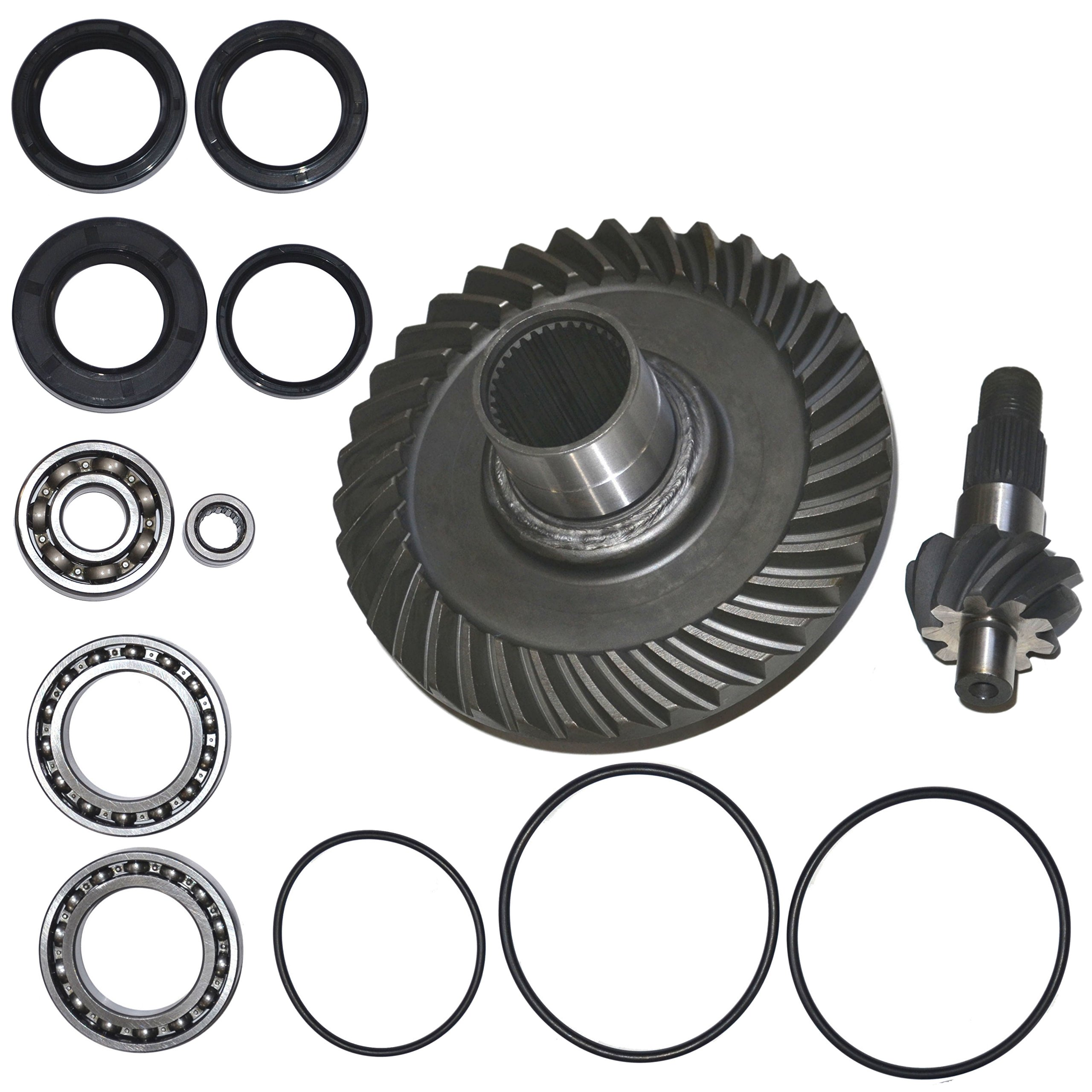 Fourtrax Rear Differential Ring and Pinion Gear & Bearing Fits 1988-2000 Honda TRX300FW 300 by TOP NOTCH PARTS