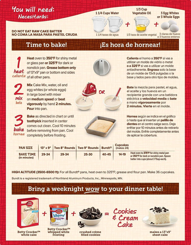 Betty Crocker Super Moist White Cake Mix - 432 gr: Amazon.es: Alimentación y bebidas