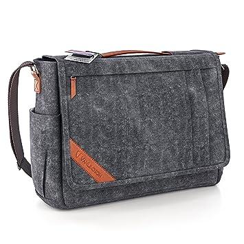 83511d33de1fb Große Umhängetasche für Herren + Laptop Tasche 15.6 Zoll  2018 DESIGN   Messenger Bag Kuriertasche