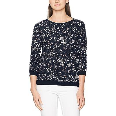 Tom Tailor Denim Flower W/Gathered Sleeve, Sweat-Shirt Femme